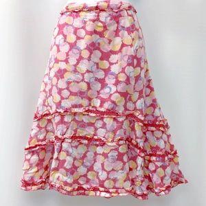🆕 Anthropologie Pink Dandelion Midi Skirt, 12